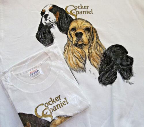 Cocker Spaniel Sweatshirt & T-shirt #2 Set XL ( 46 ~ 48 )