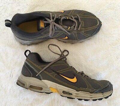 NIKE Air Max Trail Break Gray Yellow Mens 10 M #343847 Sneakers Trainers