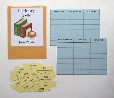 Word Game Dictionary (Teacher Made Literacy Center Resource Game Dictionary Skills Guide Words )