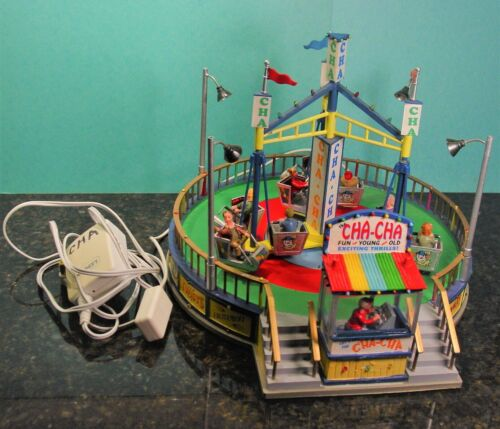 Lemax Village Collection 2007 The Cha-Cha Spinning Carnival Ride  No Box