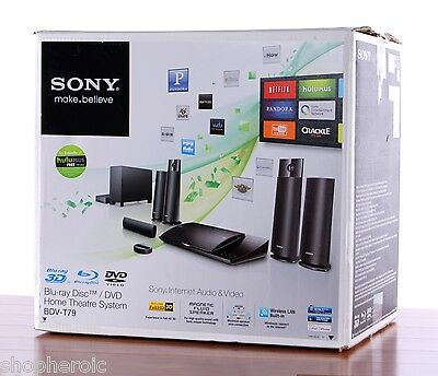 Sony 5.1 Channel Wi-Fi Wireless BDV-T79 HDMI WiFi 3D Blu-ray Home Theater System on Rummage