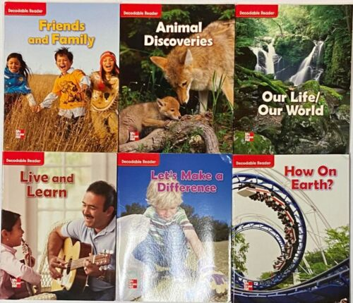 2nd Grade 2 McGraw Hill Wonders Set of 6 Decodable Readers