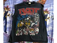 RATT VINTAGE 1984 Concert Tour RATT PATROL Shirt REPRINT