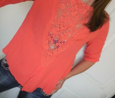 Crinkle Buckle - Nwt Buckle Taylor & Sage Womens Crochet Crinkle Blouse Top Size Small