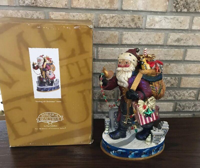 American The Beautiful Santa By Pam Schifferl Retired