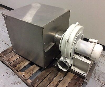 Chicago Blower Size 1200 High Pressure Centrifugal Blower W Ss Filter Housing