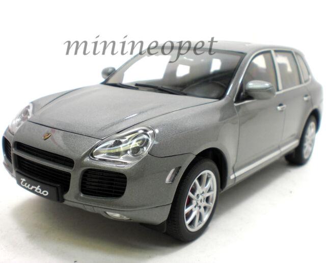 autoart 78061 porsche cayenne turbo 118 diecast model car grey