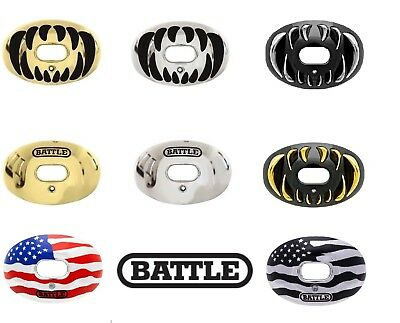 Battle Oxygen Convertible Chrome Football Mouthguard Mouthpiece Youth/Adult