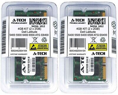 4GB 2 x 2GB DDR2 Memory RAM for DELL LATITUDE 5400 5500 6400 6500 ATG E6400 D830 Dell Ddr2 Memory