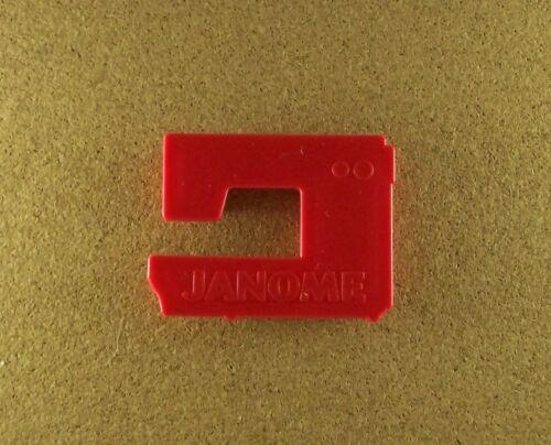 Vintage JANOME SEWING MACHINE Advertising Cookie Cutter Red RARE + Recipe Sleeve