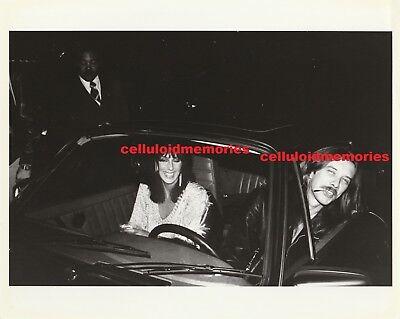 Original Photo Cher of Sonny & Cher & Les Dudek In Car