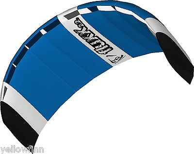 HQ FLUXX 2.2M LARGE TRAINER POWER KITE PACKAGE KITEBOARDING WITH CONTROL BAR