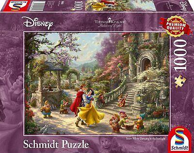 Disney's Snow White Thomas Kinkade 59625 - Schmidt Puzzle 1000 Piece, New