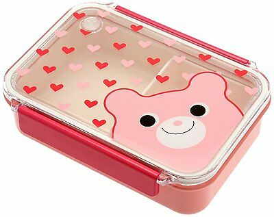 snap lid bento box bear and hearts