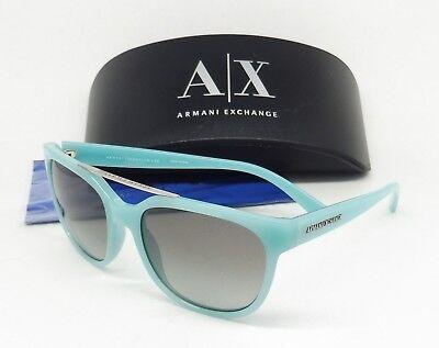ARMANI EXCHANGE 4043S 8160/11 Sunglas Light Turquoise/Gray Gradient SQUARE B3/25