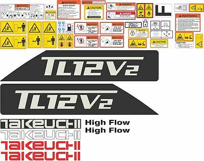 Takeuchi Tl12v2 Complete Aftermarket Decal Kit - High Quality Aftermarket Decals