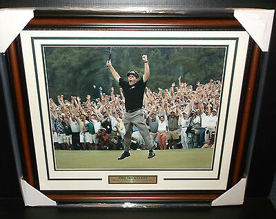 PHIL MICKELSON MASTERS CHAMPION 2004 2006 2010 16X20 PHOTO FRAMED