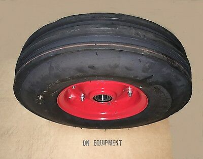 3.50x6 3 Ribbed Tedder Tire Wheel Fits Galfre Walton First Choice And More