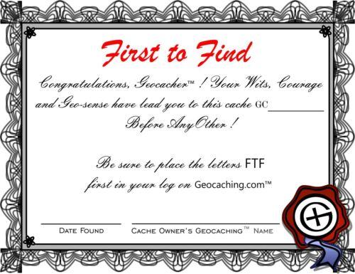Practical Geocaching® - 4 pcs - FTF Certificate - GX Logo - FREE FREIGHT