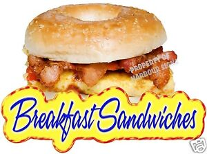Breakfast-Sandwiches-Bagel-Egg-Bacon-Concession-Restaurant-Food-Truck-Decal-14-034