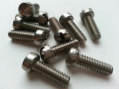 14-20 X 34 Slotted Fillister Cheese Head Machine Screw 18-8 Stainless Steel