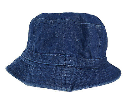 Cotton Denim Bucket Hat in Large Sizes - Size 2X  Bucket (Large Size Mens Hats)