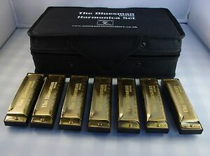 Bluesman Vintage Harmonica Boxed sets of 3, 7 or 12 harmonicas