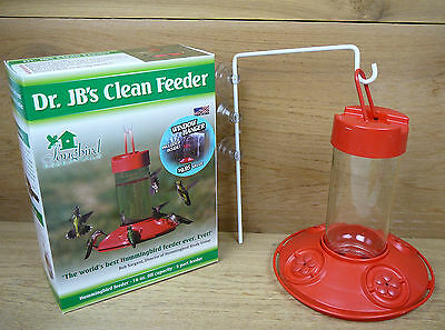 Dr. JB's Window Hanging Clean Hummingbird Feeder Red 16oz Songbird Essentials