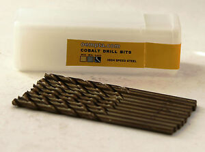 9-64-Cobalt-Drill-Bit-M35-High-Speed-Steel-135-Split-Point-Tip-10-pk