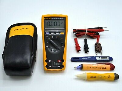 Fluke 179 True-rms Digital Multimeter W Probes Fluke Thermocouple Extras