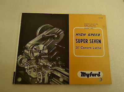 Myford High Speed Super Seven 3 12 Center Lathe Catalog 1965 Jrw010
