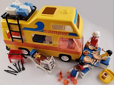 PLAYMOBIL VINTAGE 3148 CAMPER VAN YELLOW MOTORHOME - 100% COMPLETE - EXCELLENT! for sale  Shipping to Canada