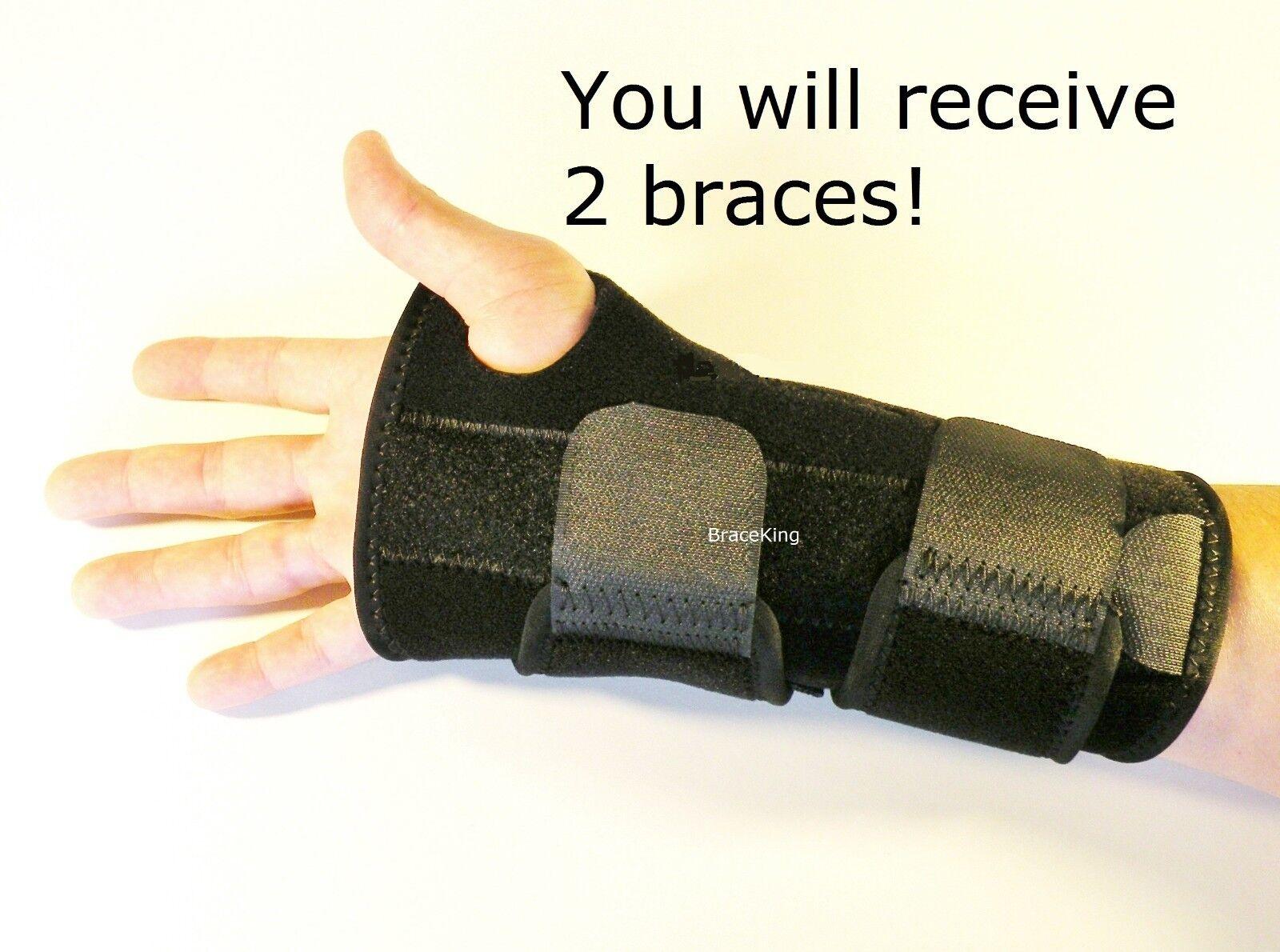FDA APPROVED 2 Carpal Tunnel Wrist Brace Support Splint by B