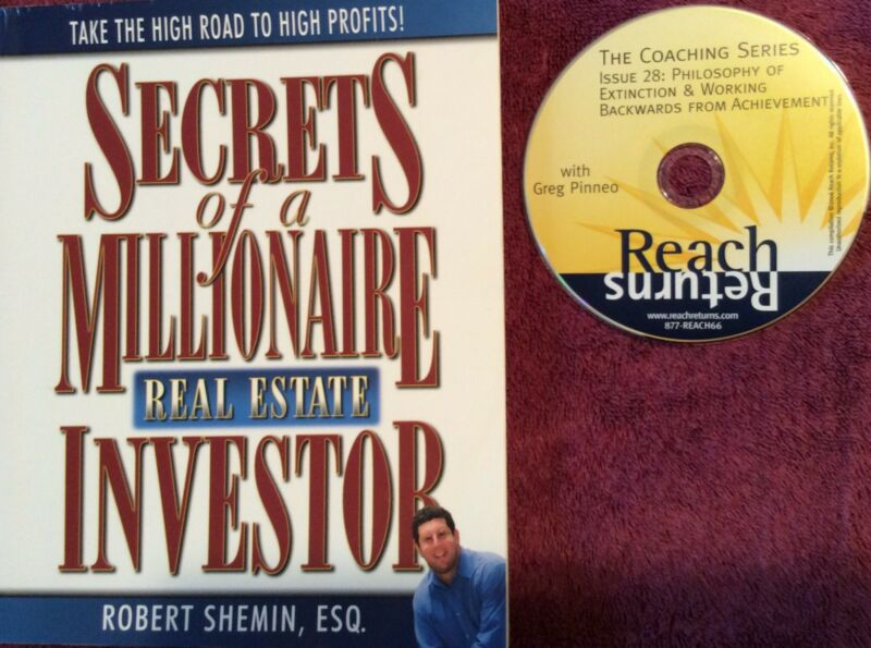 Real Estate Millionaire Investor Secrets Combo Package Shemin Book & Pinneo CD!