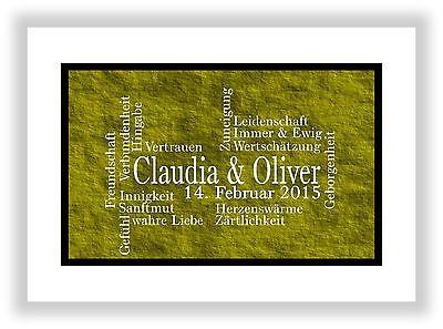 Geschenkidee für den Partner Mann + Frau Deko Kunstdruck Bild Dekoration Gelb (Valentinstag Dekoration Ideen)