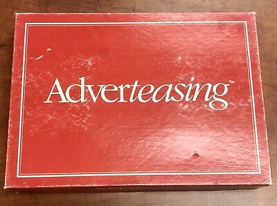 Vintage 1988 Adverteasing The Game Of Slogans, Commercials & Jingles Board Game