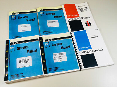 International Ih 784 Tractor Diesel Engine D-246 Service Operators Parts Manual