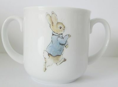 Reutter The World of Beatrix Potter Two Handled Peter Rabbit Mug. Germany.