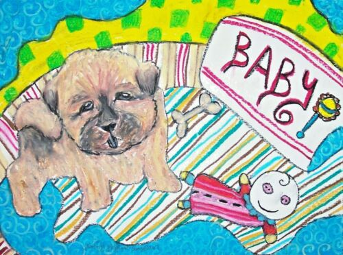 Baby Chow dog Puppy 11 x 14 Kimberly Helgeson Sams Art Print