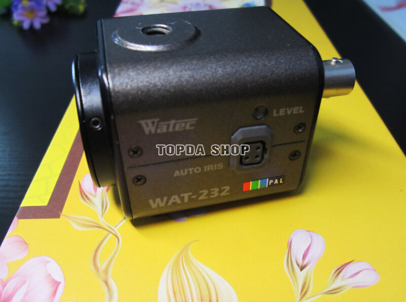 1PC WATEC WAT-232 Color to black and white low illumination industrial camera#SS