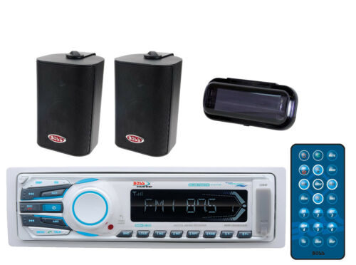New MR1308UAB Yacht MechlessMP3 Bluetooth Streaming+3-Way 200W Box Spkrs + Cover
