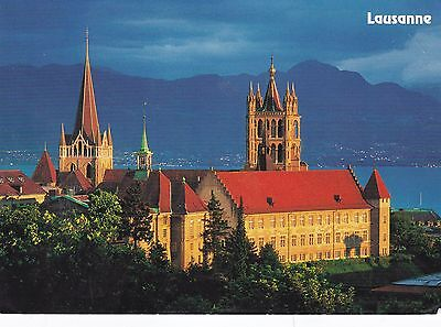 Lausanne Cathedral Postcard Used VGC