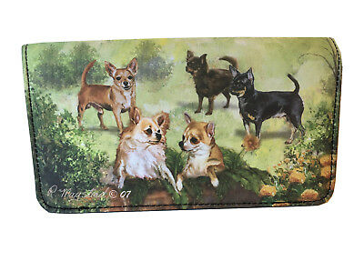 NEW Chihuahuas Puppies Short Long Hair Fur Dog Wallet Ruth Maystead Best (Best Short Haired Dogs)