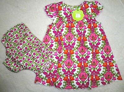 VERA BRADLEY Baby Girls Lilli Bell Floral Dress Armoire Gift BOX SET 6-9 Months for sale  Tampa
