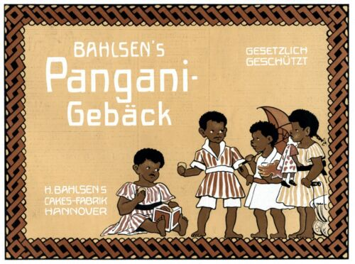 Bahlsen Pangani Biscuit German 1909 ad advertising black children african