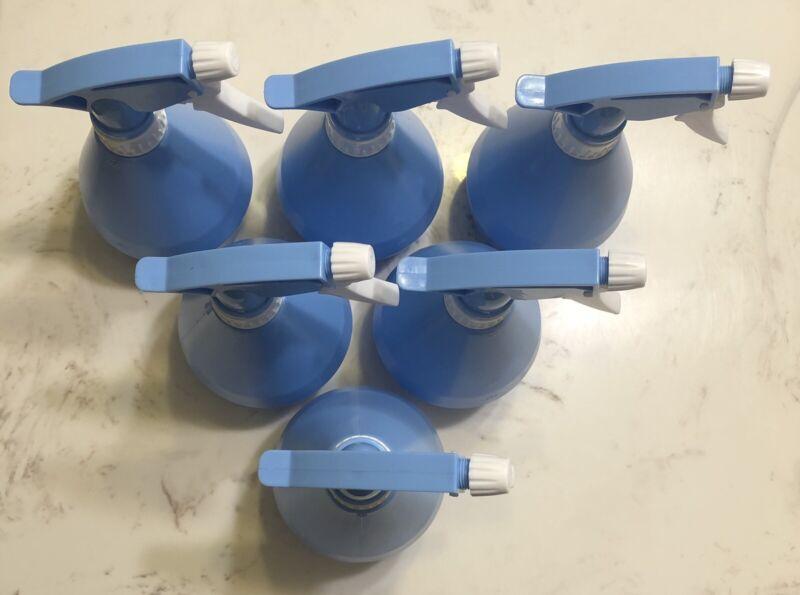 500ml spray bottles 6 pack light blue unbranded