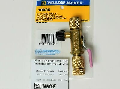 Yellow Jacket 18985 Ball Valve Core Removal Tool 516 Flare Access Fitting