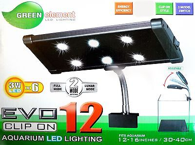 Beamswork LED light clip clamp 3W x6 6500k daylight DIY CO2 planted aquarium