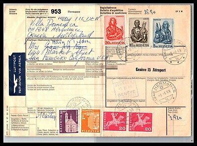 GP GOLDPATH: SWITZERLAND PARCEL RECEIPT 1969 AIR MAIL _CV661_P14