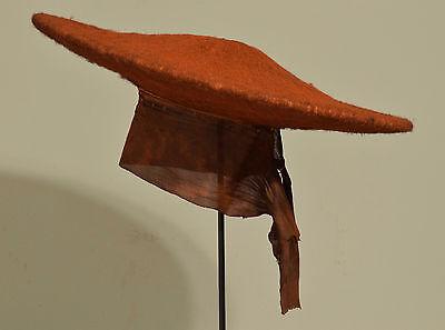 African Hat Zulu Red Womens Hat South African Female Status Martial Red Zulu Hat